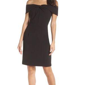 Adelyn Rae Gail Off Shoulder Black Dress